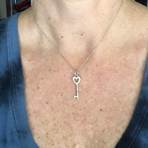 Tiffany & Co Heart Key Necklace